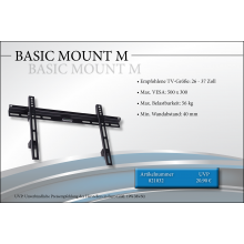 Black Connect Basic Mount M TV-Halterung
