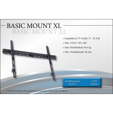 Black Connect Basic Mount XL TV-Halterung