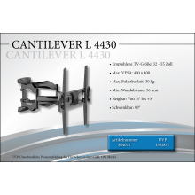 Black Connect Cantilever L 4430 TV-Halterung