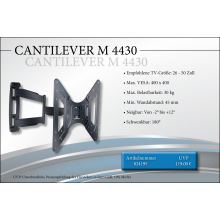 Black Connect Cantilever M 4430 TV Halterung
