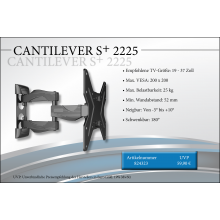 Black Connect Cantilever S+ 2225 TV-Halterung