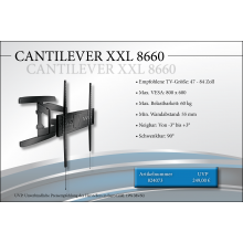 Black Connect Cantilever XXL 8660 TV-Halterung