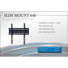 Black Connect Slim Mount 640 TV-Halterung