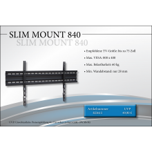 Black Connect Slim Mount 840 TV-Halterung
